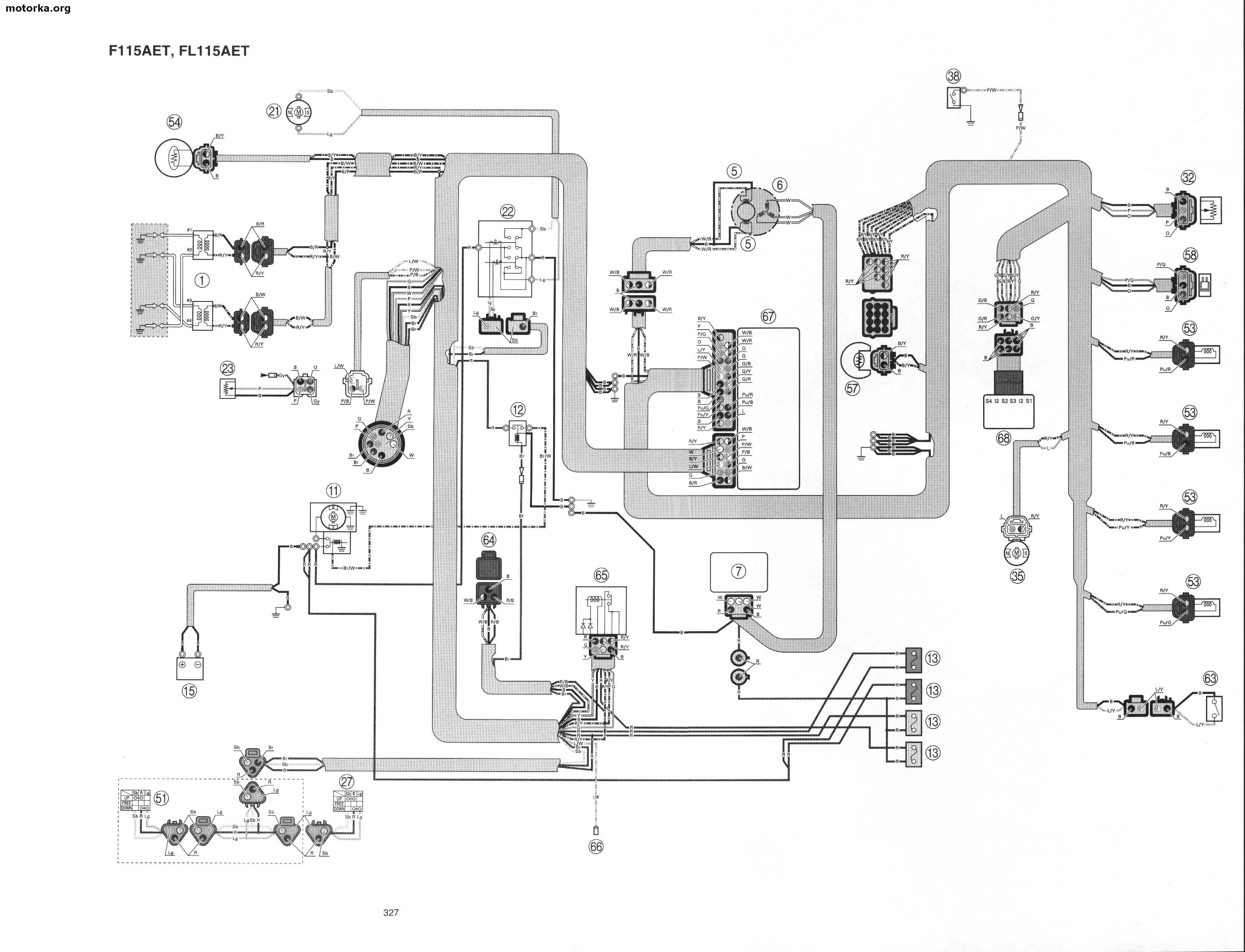 Yamaha 115 Outboard Tachometer Wiring Diagram