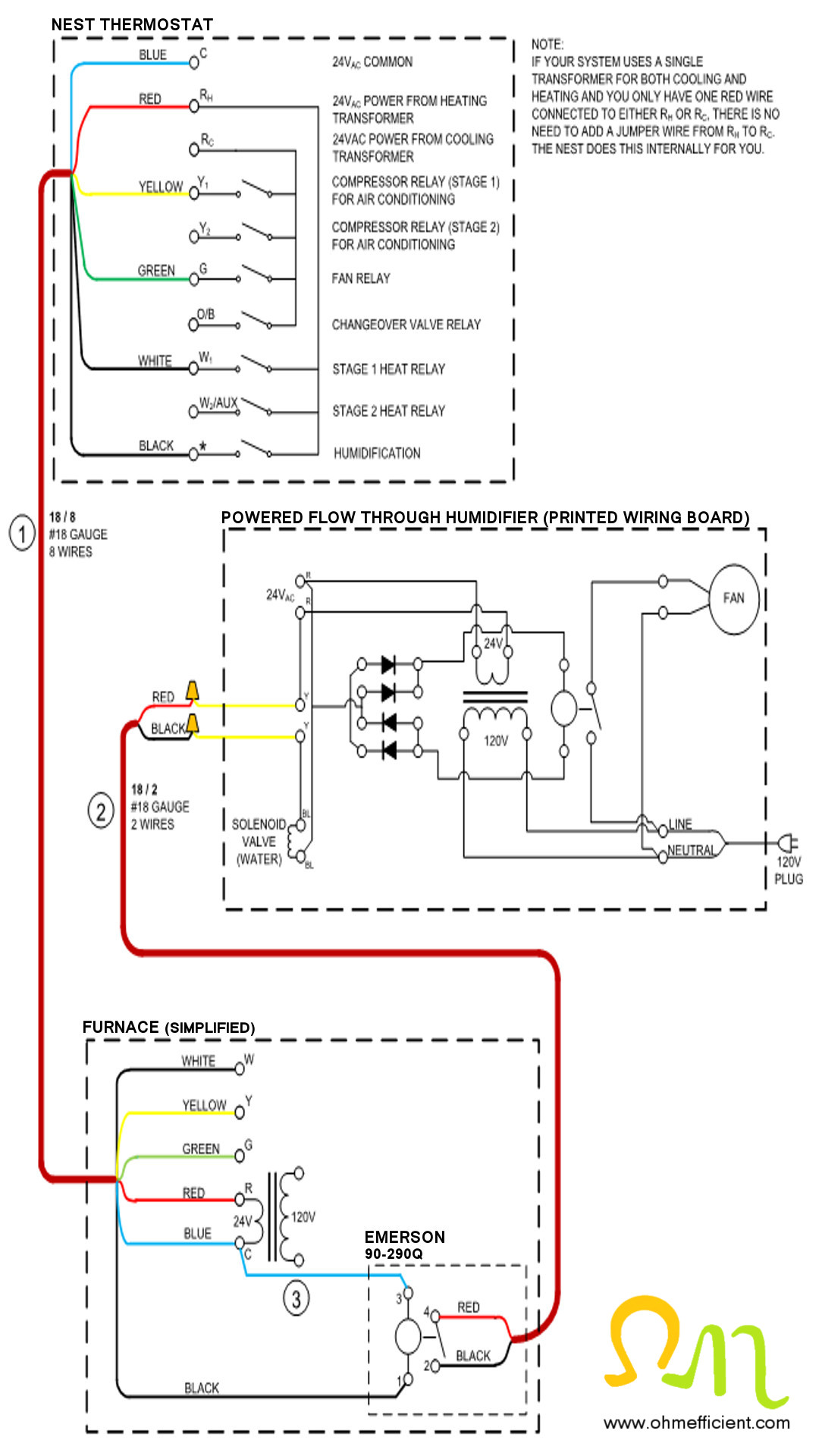 Nx 1140  White Rodgers Humidifier Wiring Diagram Free Diagram
