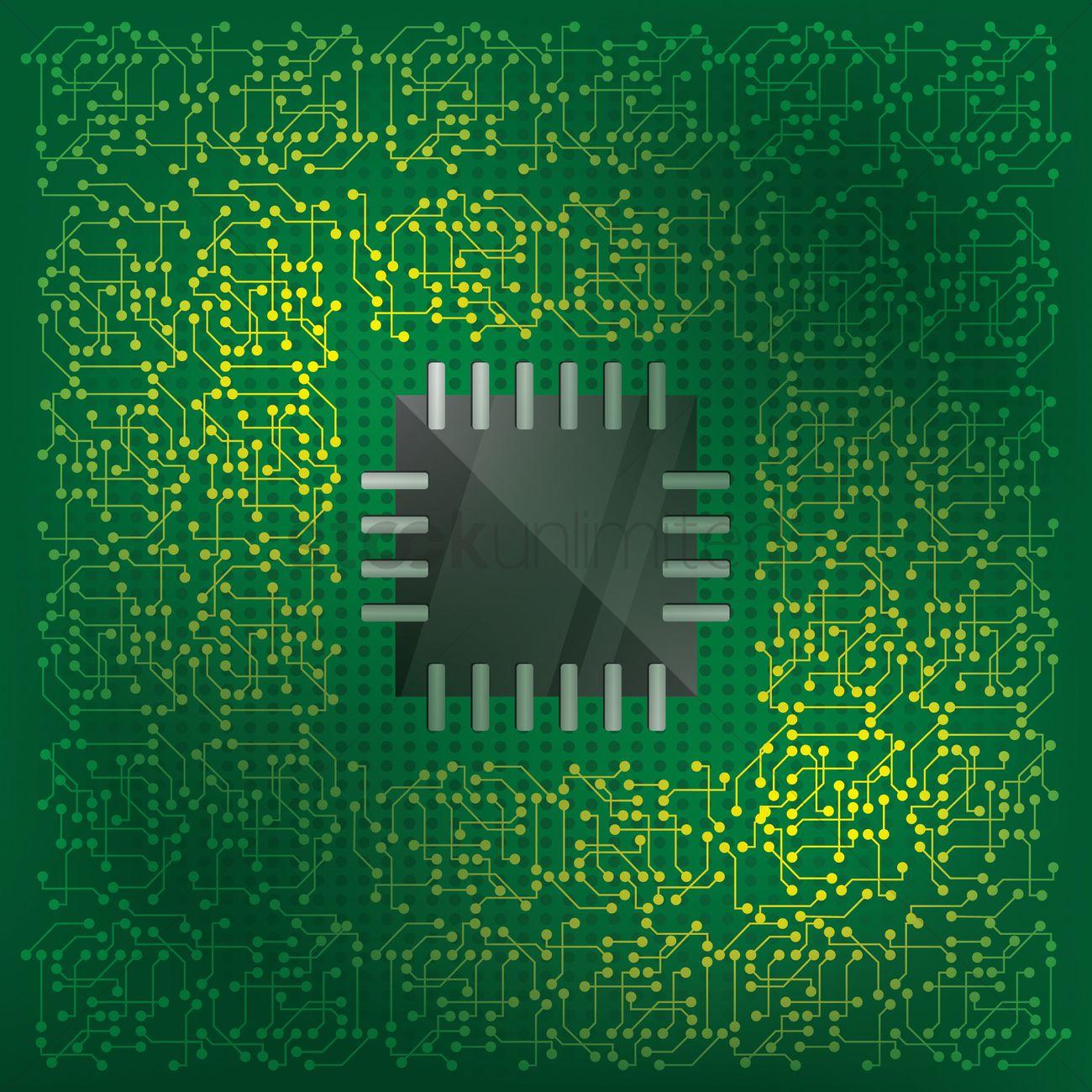 Stupendous Electronic Circuit Background Vector Image 1502673 Stockunlimited Wiring Cloud Filiciilluminateatxorg