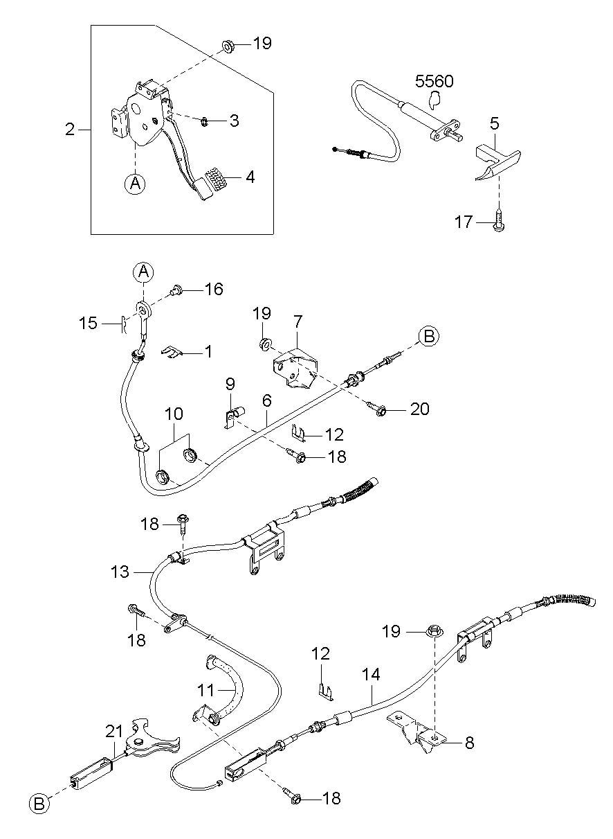 Yd 6176  Mustang Convertible Top Frame Diagram