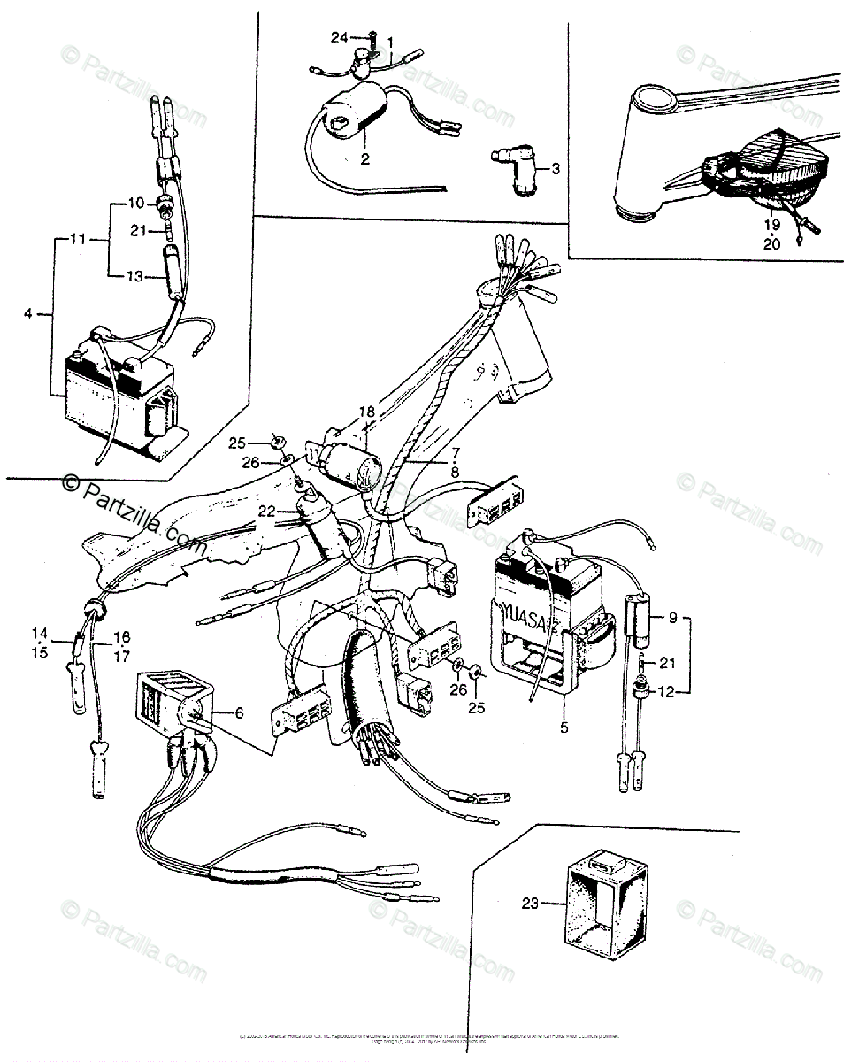 1965 Honda S90 Wiring Diagram