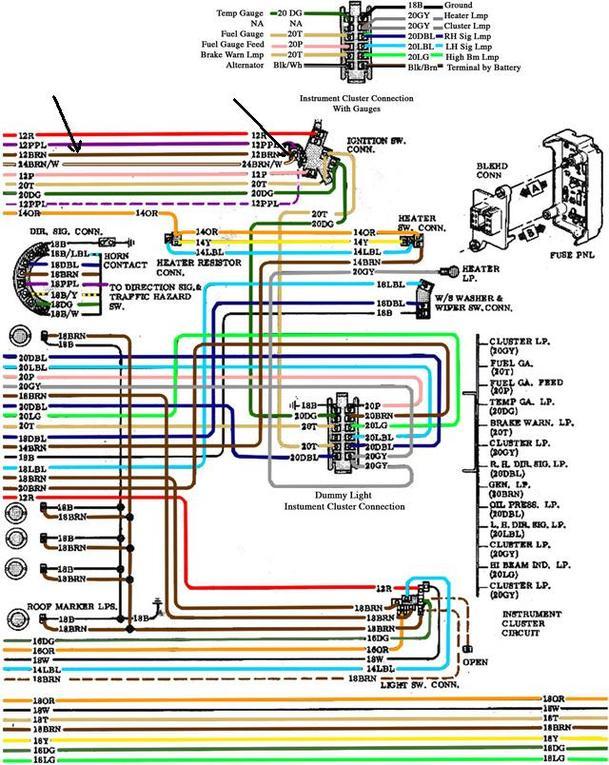 72 Chevy Truck Alternator Wiring Diagram - Wiring Diagram