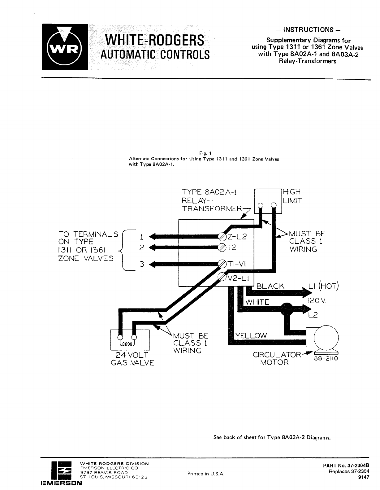 Gas Valve Relay Wiring Diagram