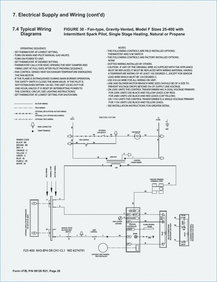 typical control wiring on furnace reznor  wiring diagram