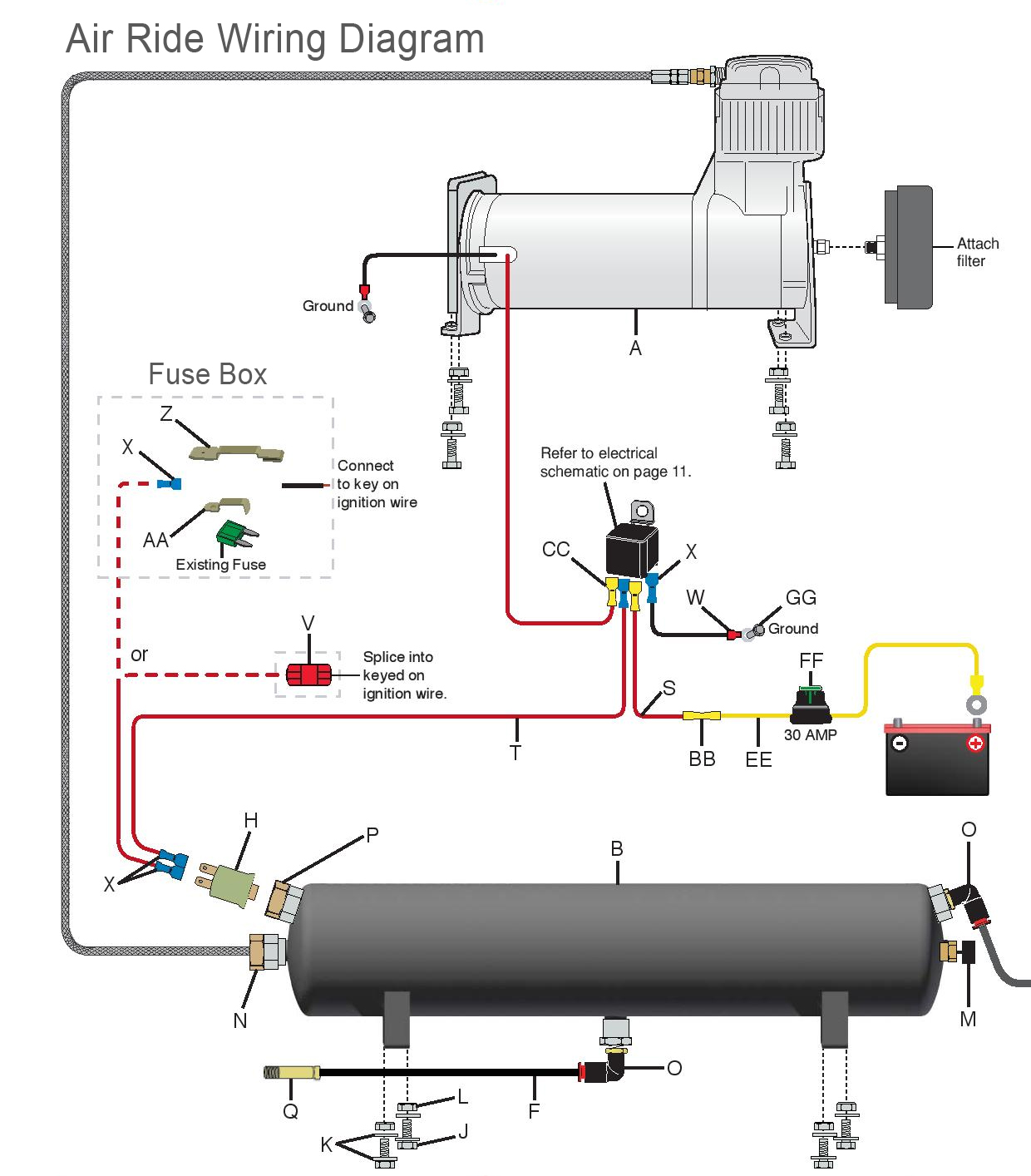 viair compressor wiring diagram lt 1122  basic wiring diagram air ride download diagram  lt 1122  basic wiring diagram air ride