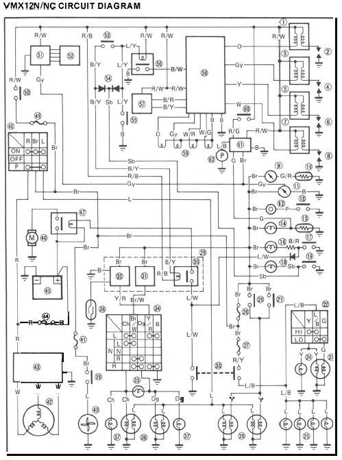 1995 Yamaha Vmax 600 Wiring Diagram