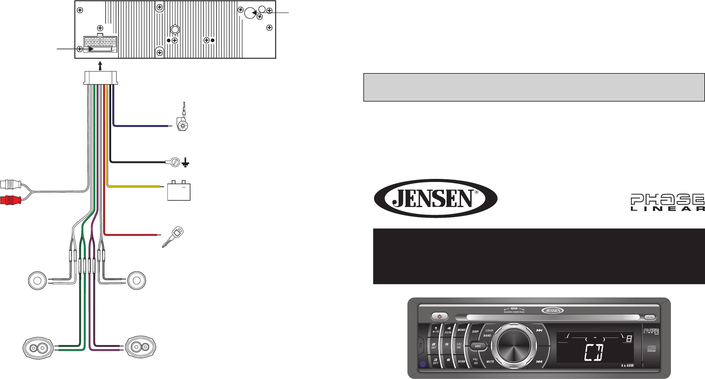 jensen car cd player wiring diagram dh 9241  jensen car audio wiring diagram schematic wiring  audio wiring diagram schematic wiring