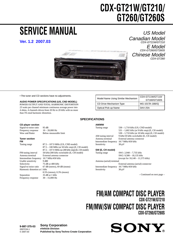 fb6474 sony drive s car stereo wiring diagram schematic wiring