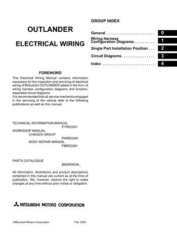 Fabulous 2006 Mitsubishi Outlander Electrical Wiring Diagram Pdf Manual Wiring Cloud Monangrecoveryedborg