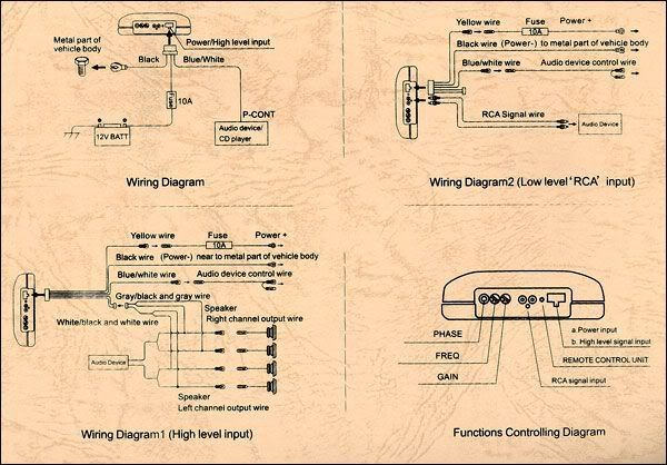 fz9568 powered subwoofer wiring diagram free picture