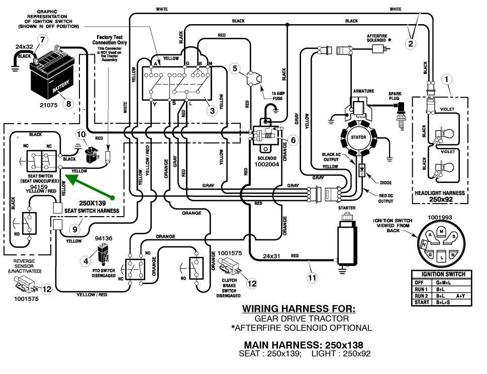 John Deere Model 2010 Wiring Diagram