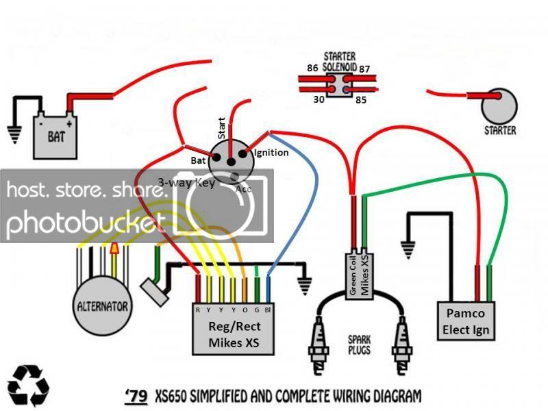 Tk 9164 Yamaha Xs650 Bobber Wiring Diagram Schematic Wiring