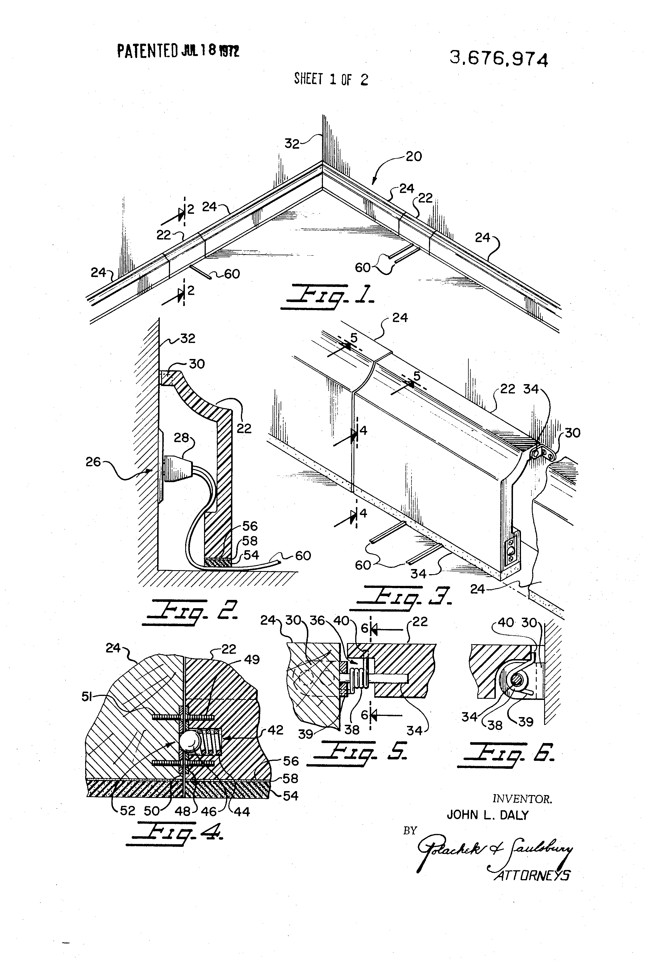 Pleasant Patent Us3676974 Baseboard Molding Incorporating Cover Sections Wiring Cloud Lukepaidewilluminateatxorg