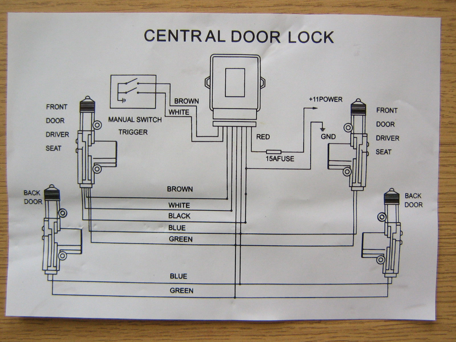 MH_4958] Central Locking Actuator Wiring Diagram Download Diagram