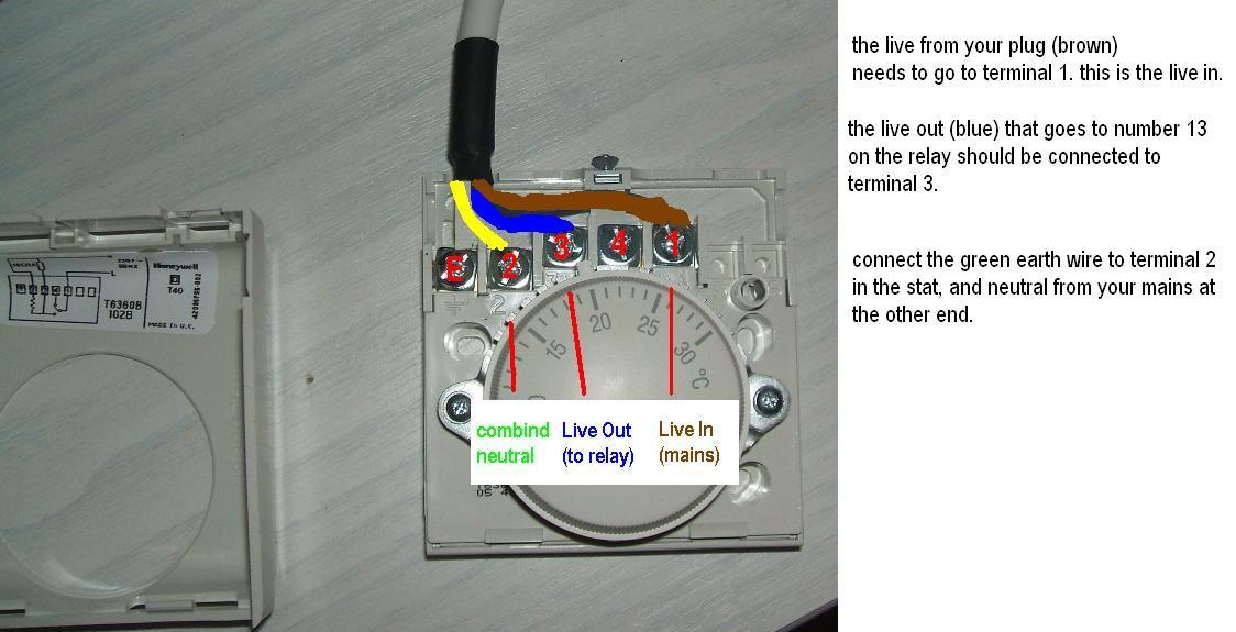 Honeywell T6360b Room Thermostat, Honeywell T6360 Room Thermostat Wiring Diagram