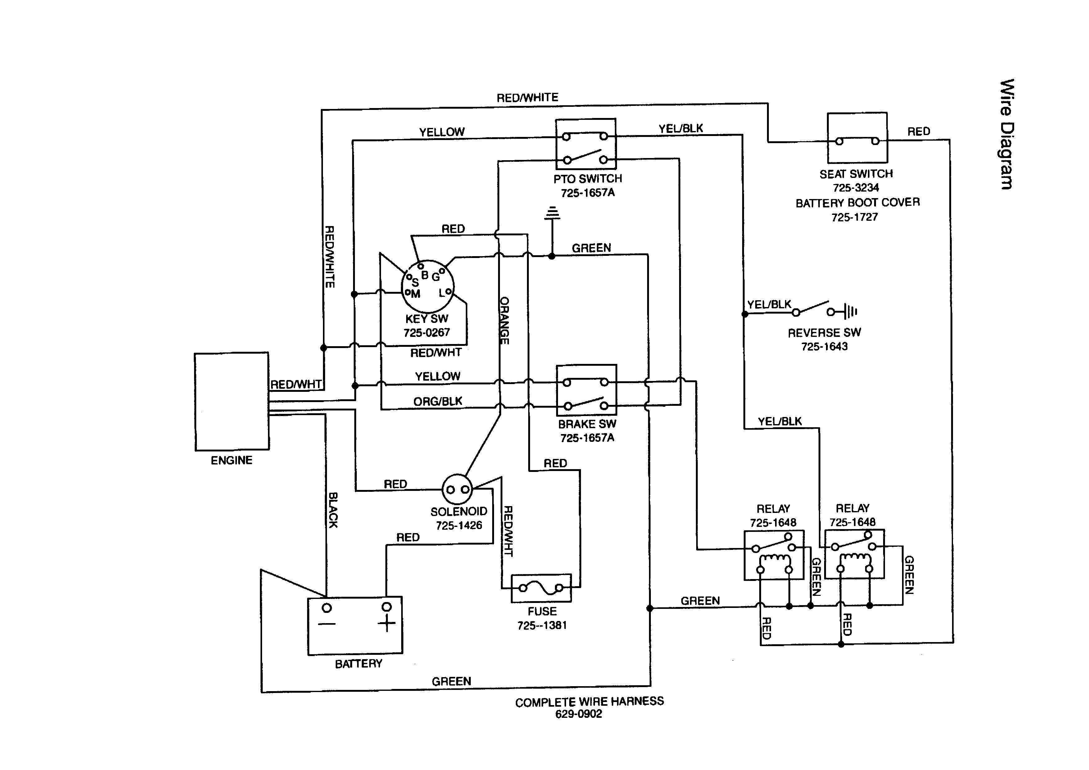 Mtd Lawn Tractor Wiring Diagram