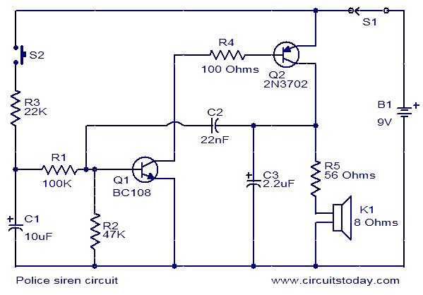 Strange Police Siren Electronic Circuits And Diagrams Electronic Projects Wiring Cloud Xempagosophoxytasticioscodnessplanboapumohammedshrineorg