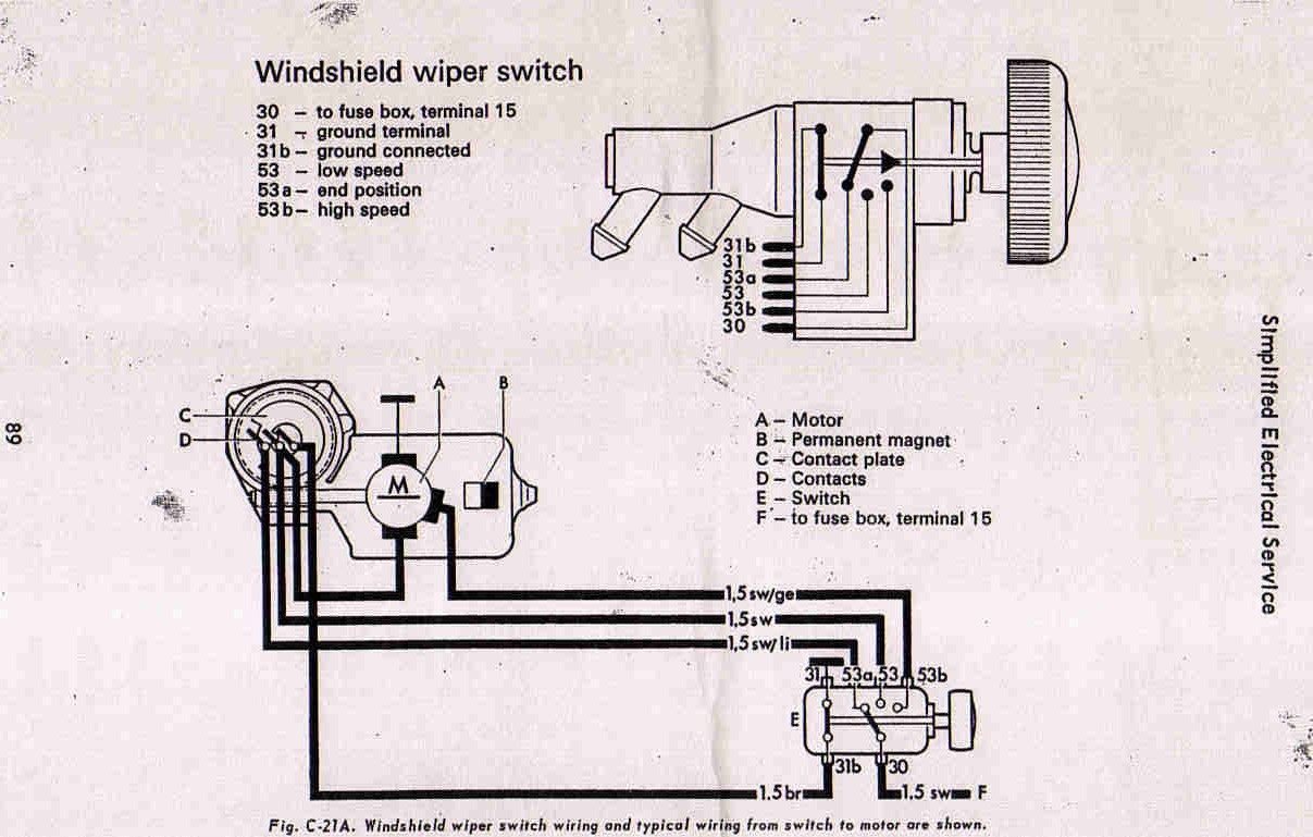 1974 Vw Beetle Wiper Motor Wiring