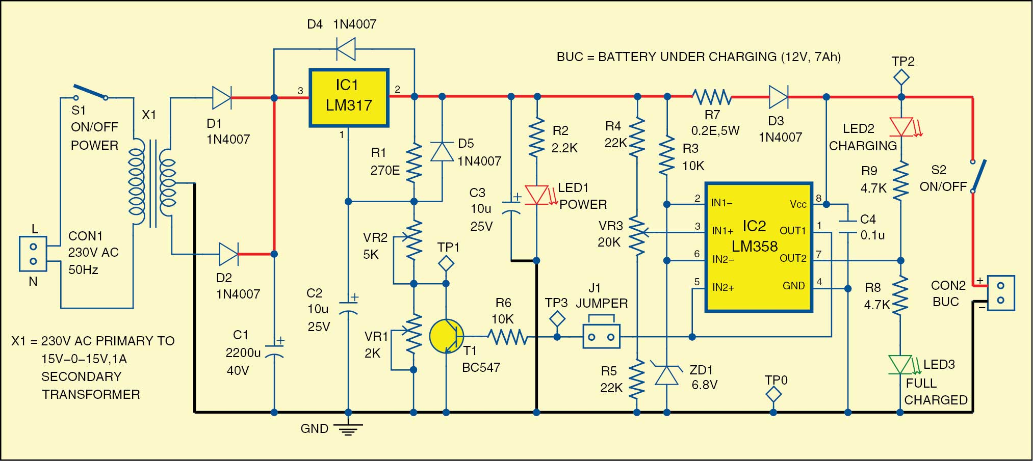 Outstanding 12V Battery Charger Detailed Project With Circuit Available Wiring Cloud Icalpermsplehendilmohammedshrineorg