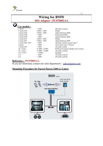 hr8035 parrot bluetooth wiring diagram moreover parrot