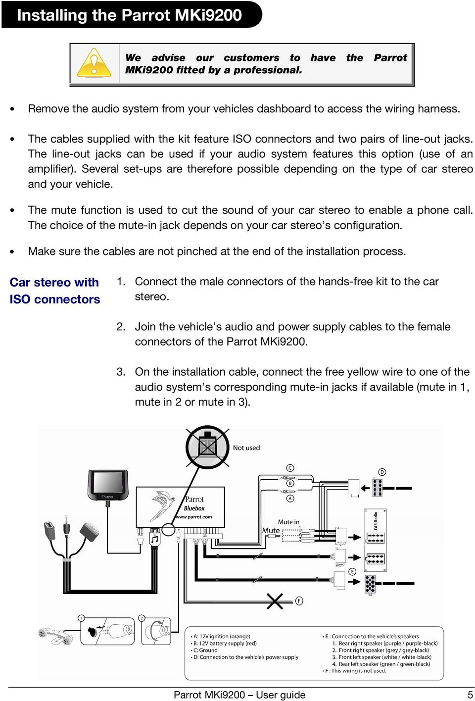Parrot Mki9200 Installation Wiring Diagram