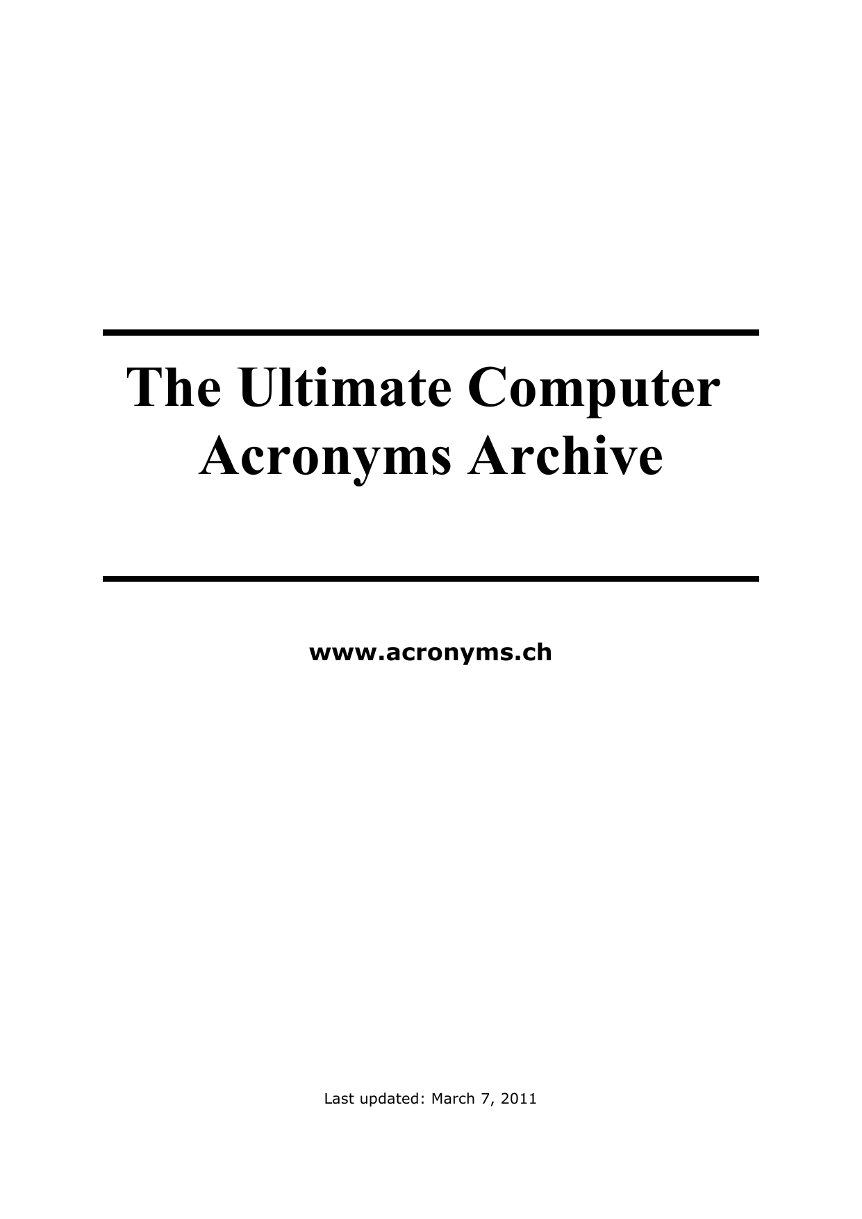 Incredible The Ultimate Computer Acronyms Archive Manualzz Com Wiring Cloud Overrenstrafr09Org