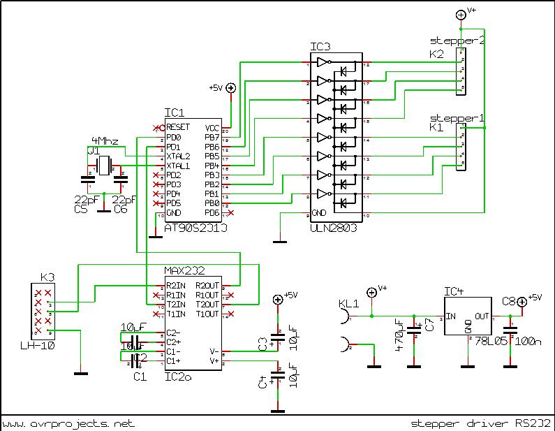 Xg 7113 Wire Stepper Motor Wiring Diagram Furthermore Stepper Motor Driver Schematic Wiring
