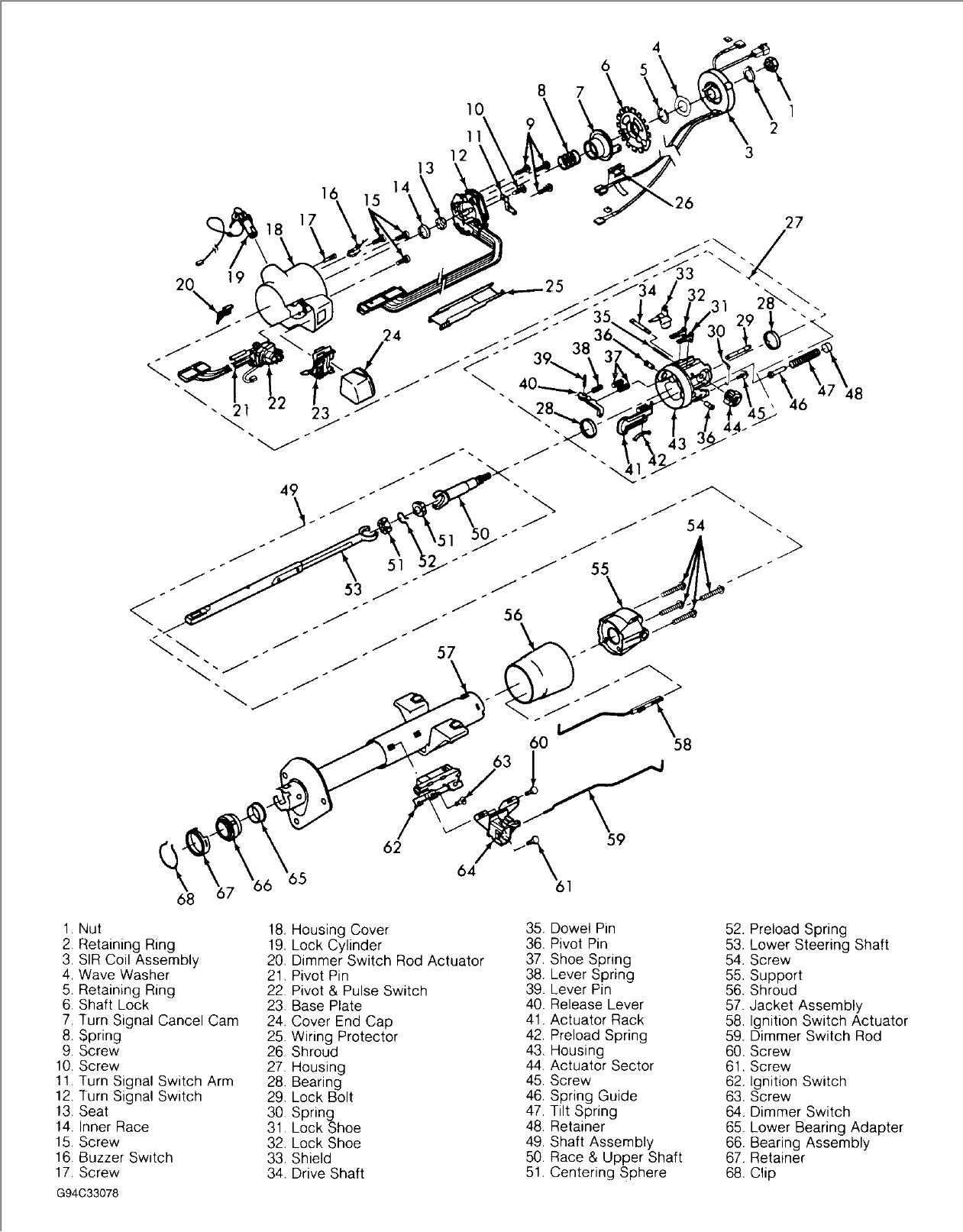 1967 camaro ignition wiring diagram 1968 camaro steering column wiring harness diagram wiring  1968 camaro steering column wiring