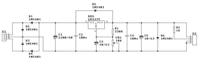 Sensational 1 5A Negative Adjustable Power Supply Power Supply Circuits Wiring Cloud Filiciilluminateatxorg