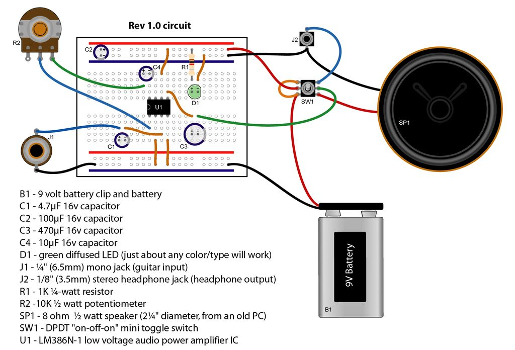 Admirable Make A Sweet Portable Guitar Amp 6 Steps With Pictures Wiring Cloud Hisonepsysticxongrecoveryedborg