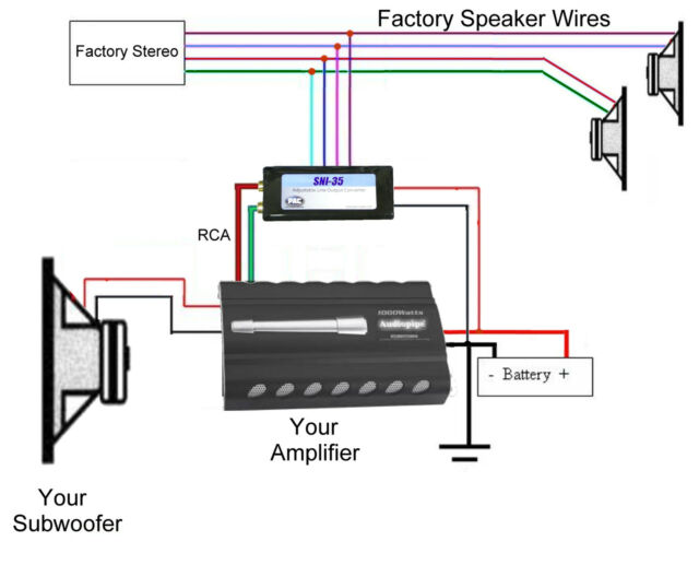 scosche line out converter wiring diagram  home theater
