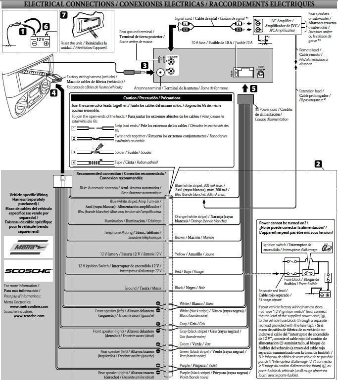 jvc kw xr610 wiring diagram  06 chevy colorado wiring