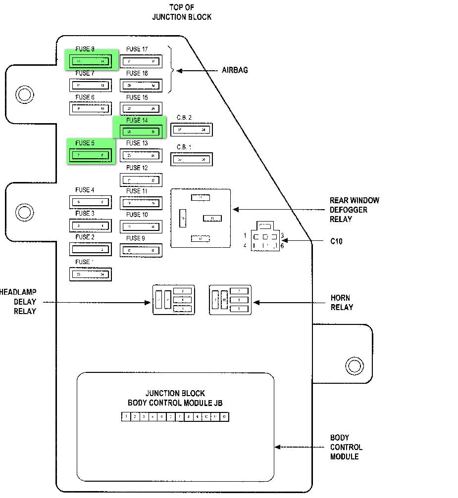 2002 Dodge Stratus Power Window Wiring Diagram