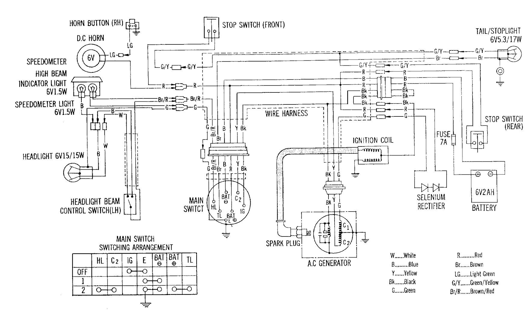 Hf 8016  Honda Ct70 Clymer Electrical Wiring Diagram Download Diagram