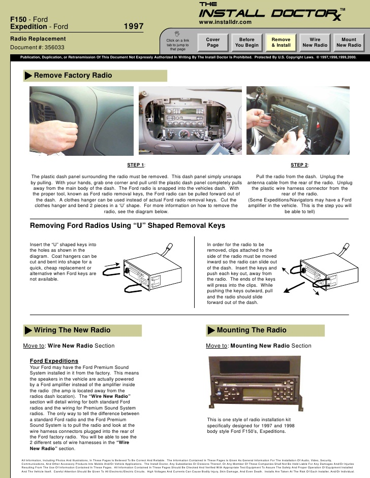 1997 Ford Expedition Premium Sound Wiring Diagram - Wiring ...