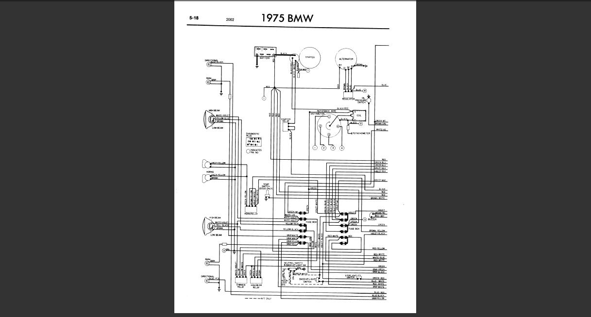[SZ_8215] 1968 Bmw 2002 Wiring Diagram Schematic Wiring