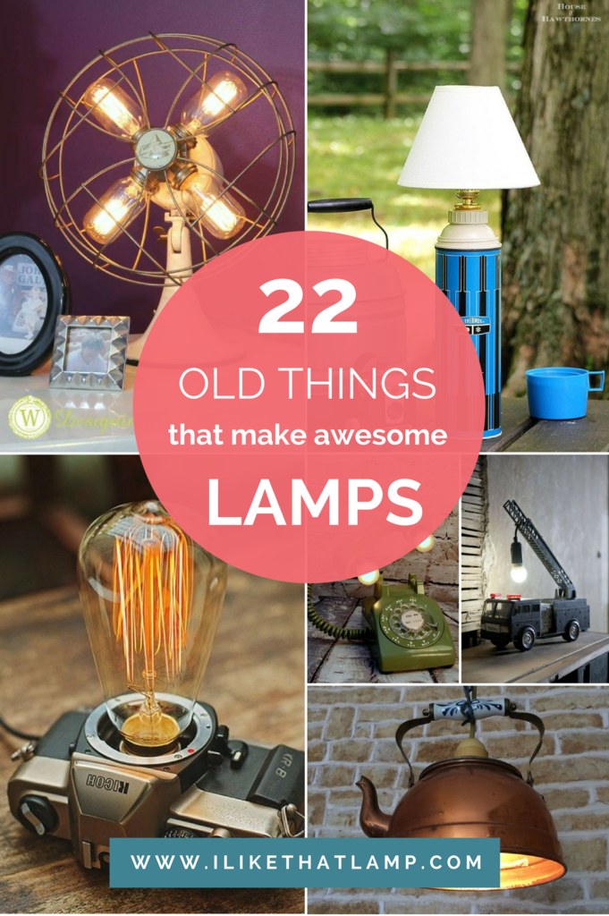 Surprising 22 Old Things That Make Awesome Diy Lamps I Like That Lamp Wiring Cloud Uslyletkolfr09Org