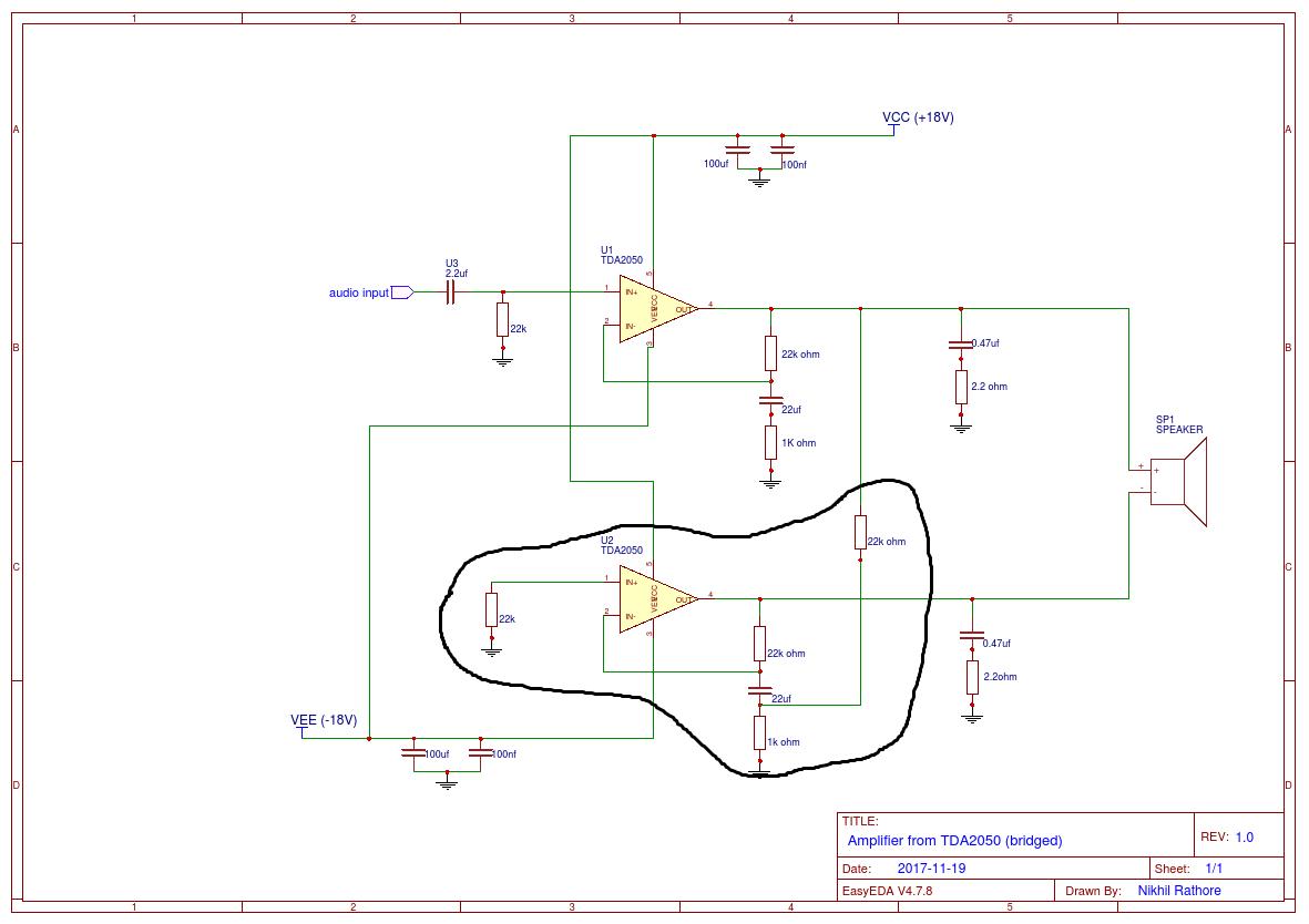 Awe Inspiring Wrg 4423 Tda2050 Bridge Amplifier Circuit Wiring Cloud Monangrecoveryedborg
