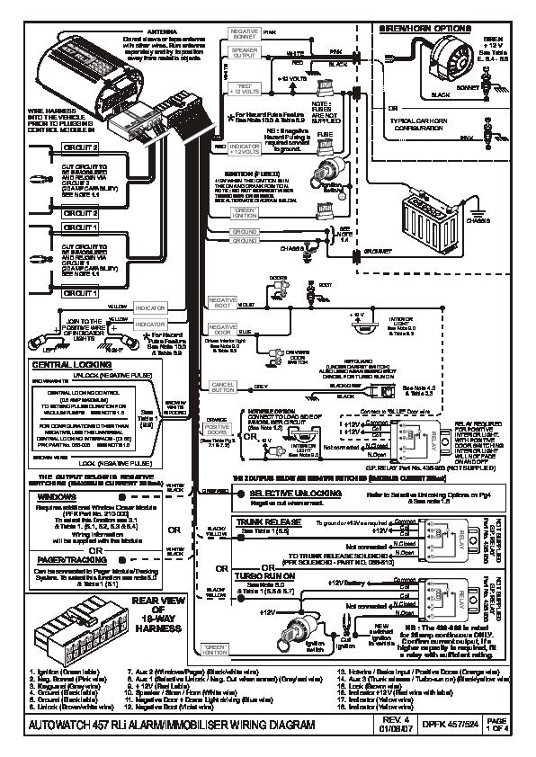 Autowatch 277rl Wiring Diagram Pdf, Car Alarm Wiring Diagrams