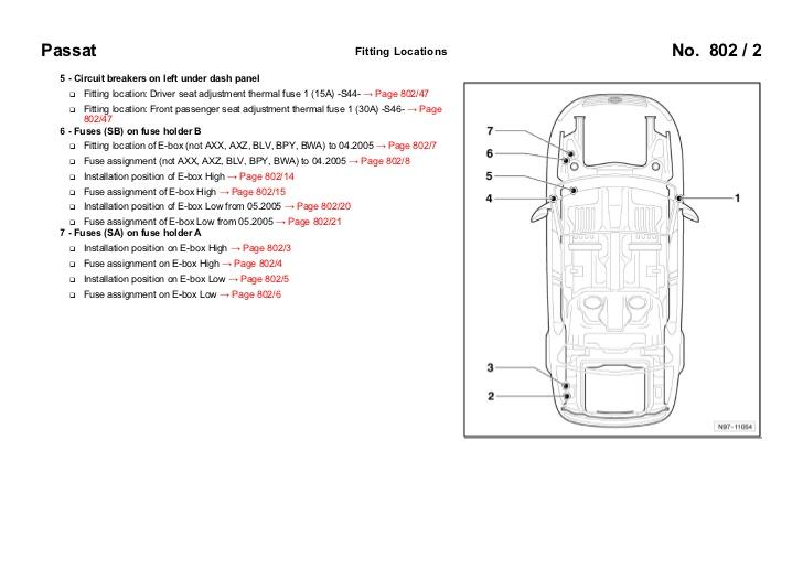 Vw Passat Airbag Wiring Diagram