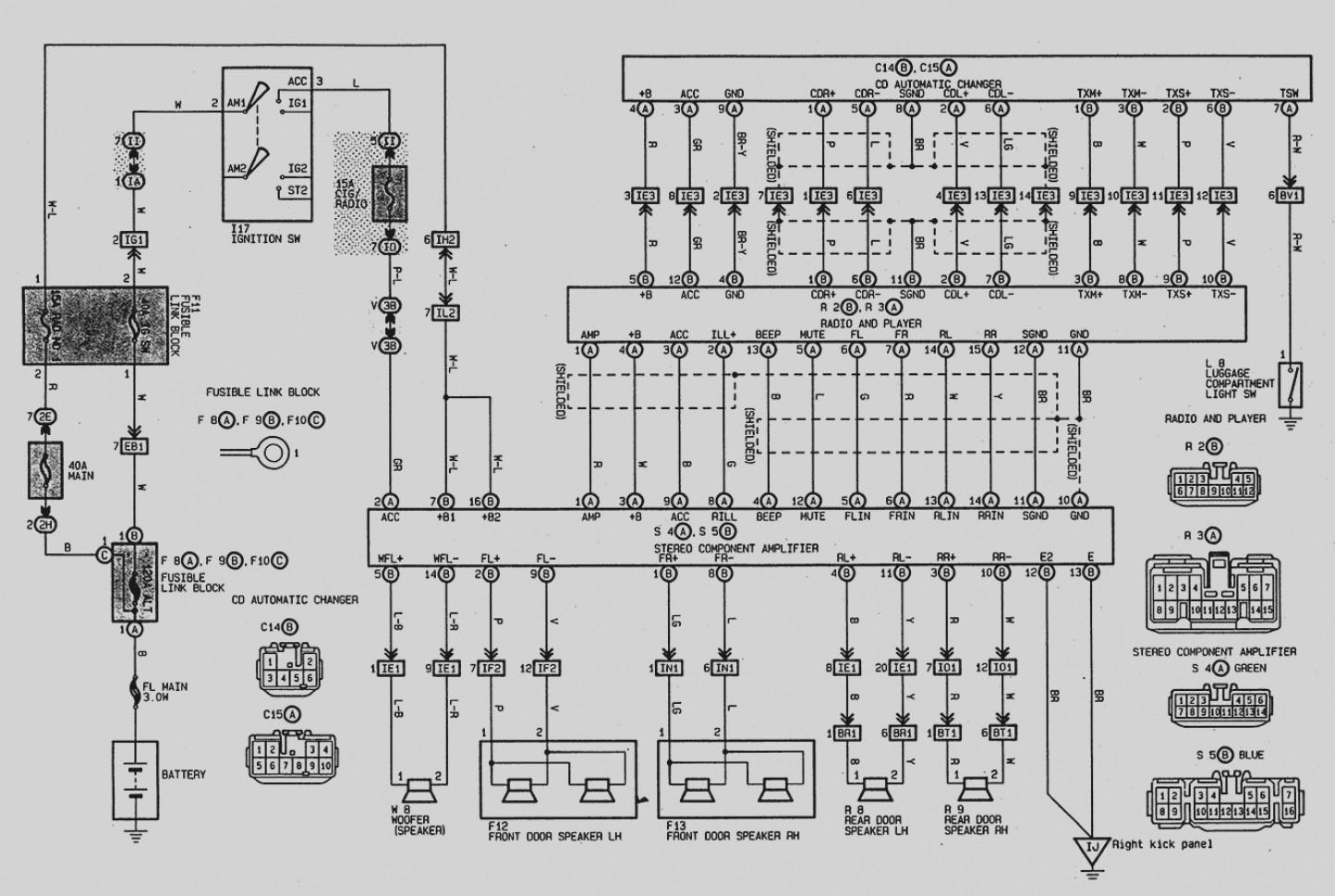 Car Wiring Diagrams Toyota - Level Switch Wire Diagram for Wiring Diagram  Schematics