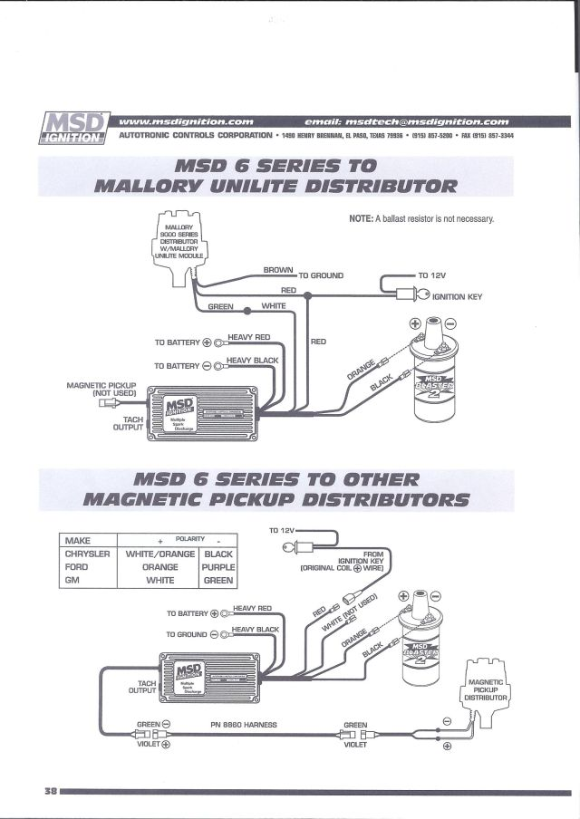 Tx 6799 Chevy Hei Distributor Wiring Diagram Msd Ignition