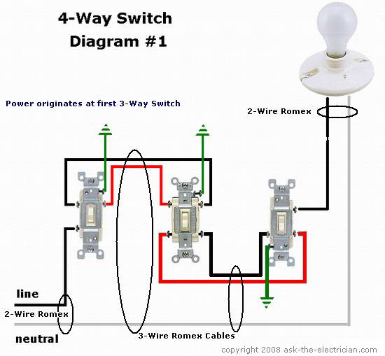 Pleasant 4 Wire Toggle Switch Wiring Diagram Leviton Triple Rocker Switch Wiring Cloud Overrenstrafr09Org