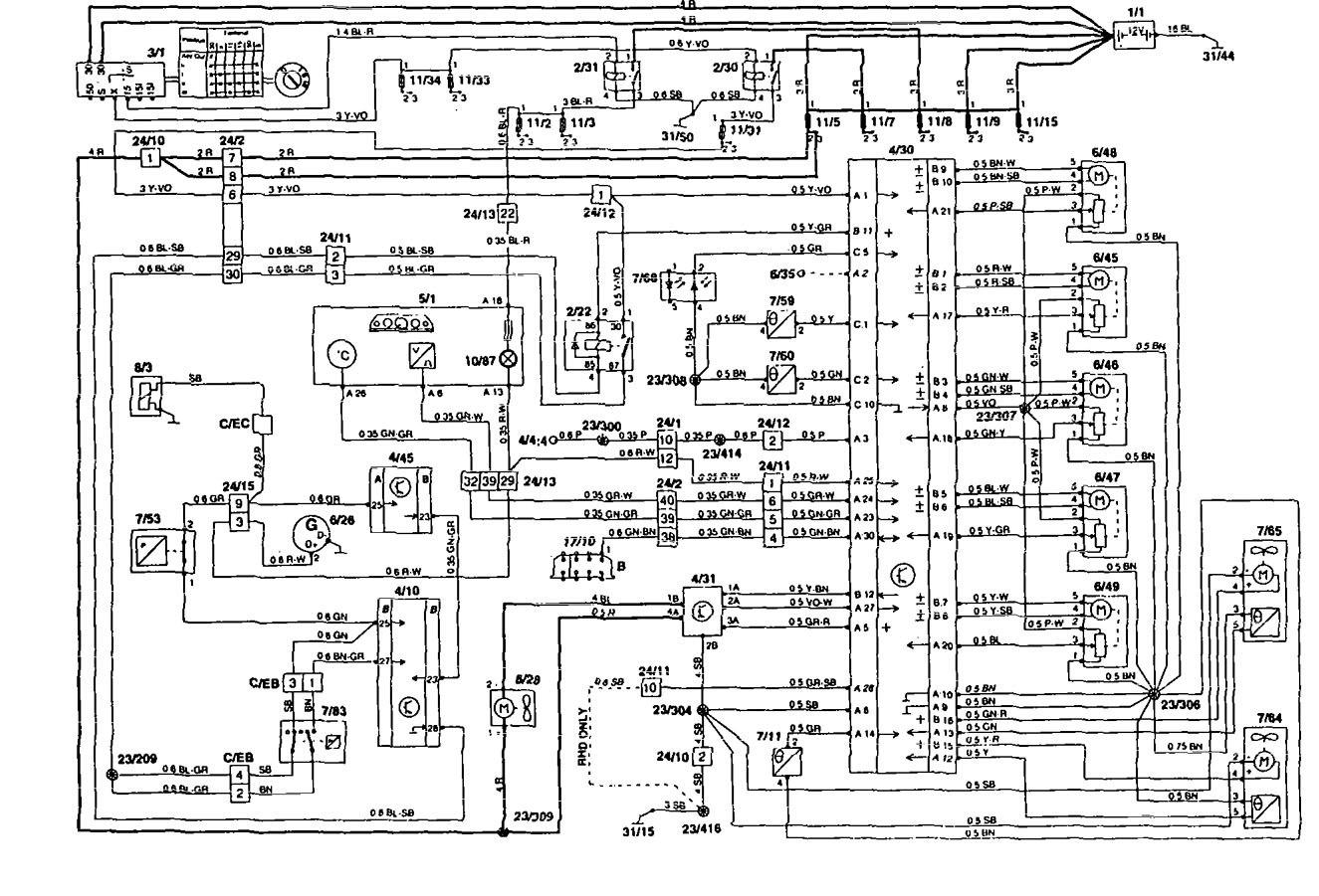 Rv 4959  Volvo 850 Turbo Vacuum Diagram 1995 Volvo 850 Auto Engine And Wiring Diagram