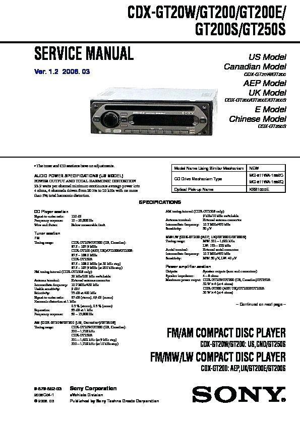 Sony Xplod Amp Wiring Diagram