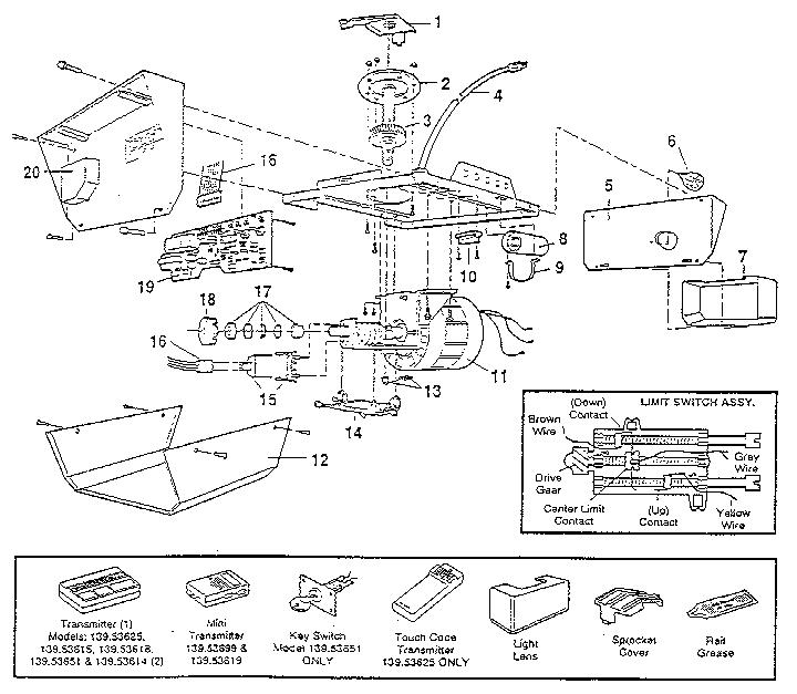 ws7420 garage door opener wiring diagram further sears