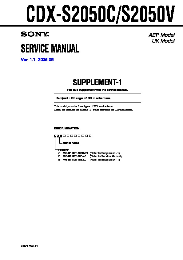 Incredible Sony Cdx S2050 Service Manual View Online Or Download Repair Manual Wiring Cloud Overrenstrafr09Org