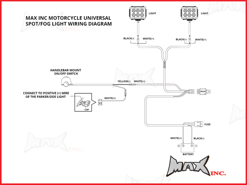 Peachy Motorcycle Motorbike Spotlight Fog Light Wiring Kit Plug N Play Wiring Cloud Rdonaheevemohammedshrineorg