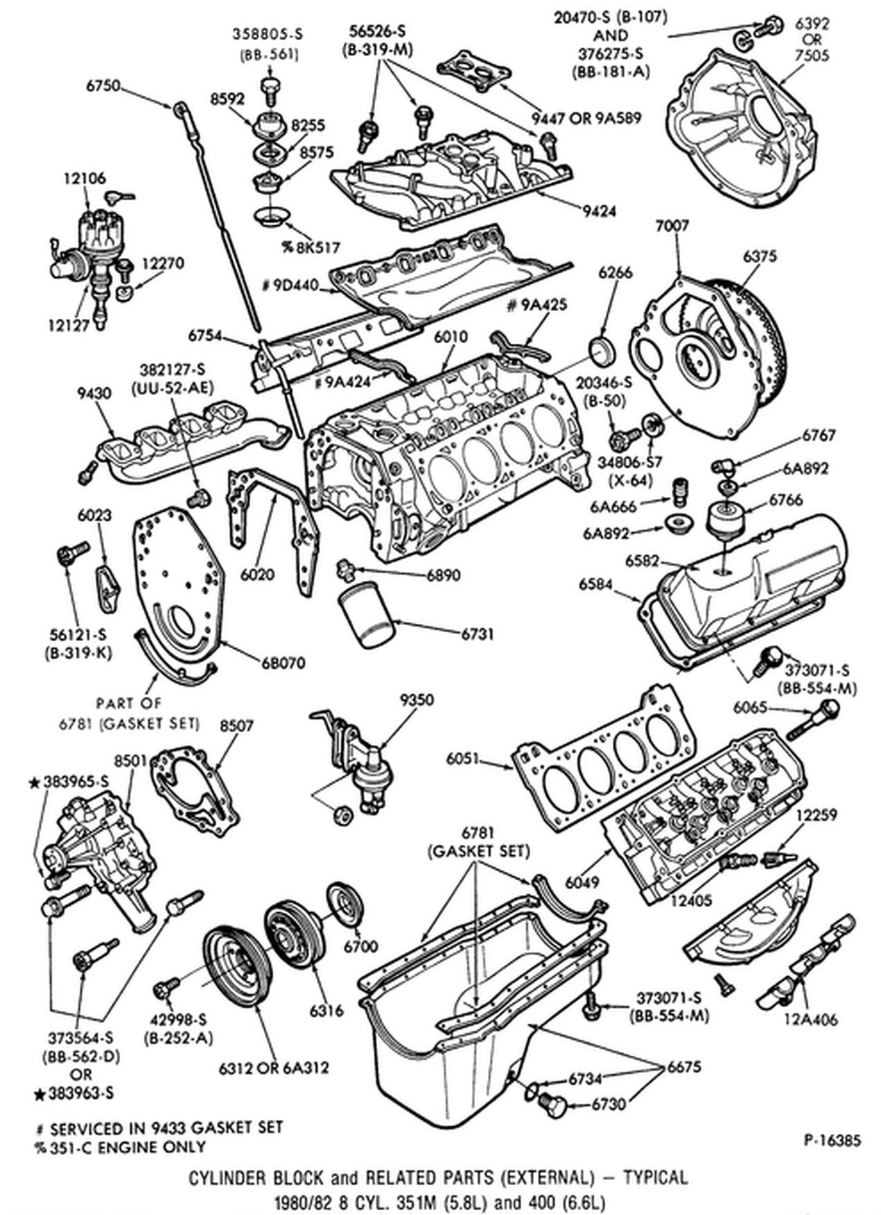 Ne 8758  1977 351 Cleveland Engine Diagram Wiring Diagram