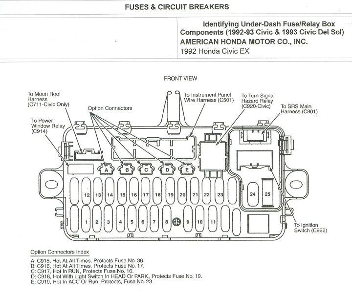 1992 Honda Civic Ignition Wiring Diagram